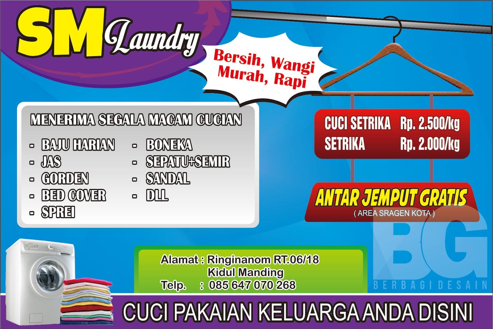 desain banner sm laundry   Berbagi Desain