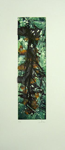 Haiku VII, Monotipo realizado por Indra Ruiz - Yoviendo árboles