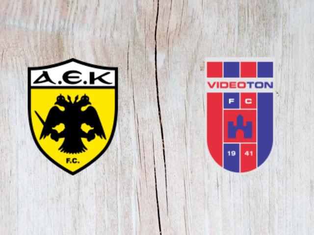 AEK Athens vs Vidi FC - Highlights - 28 August 2018