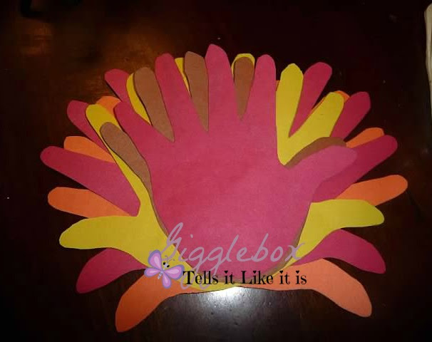 recycled baby food jars turned into thanksgiving turkeys,