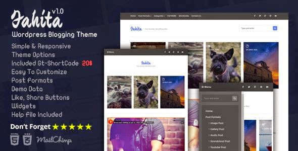 Fahita - Minimal WordPress Blog Theme