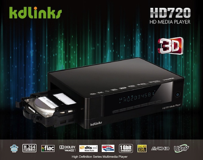 KDLINKS HD720 Extreme 3D Media Player