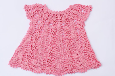 Vestido rosa a crochet y ganchillo Majovel Crochet 3