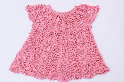 Vestido rosa a crochet y ganchillo Majovel Crochet 3