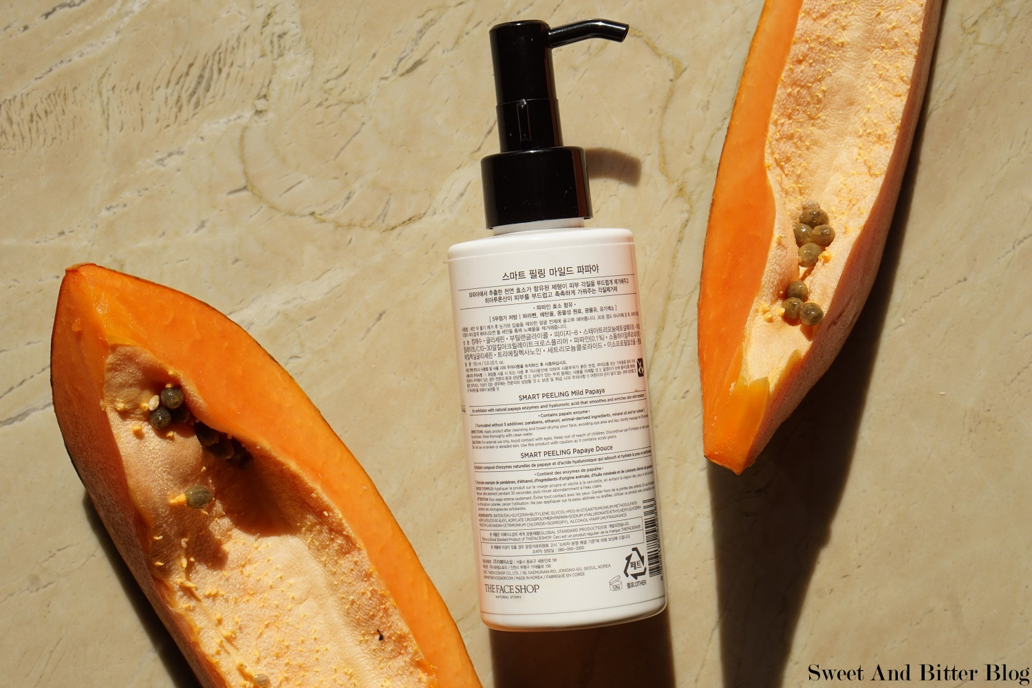 The Face Shop Smart Peeling Mild Papaya Review Indian Skin