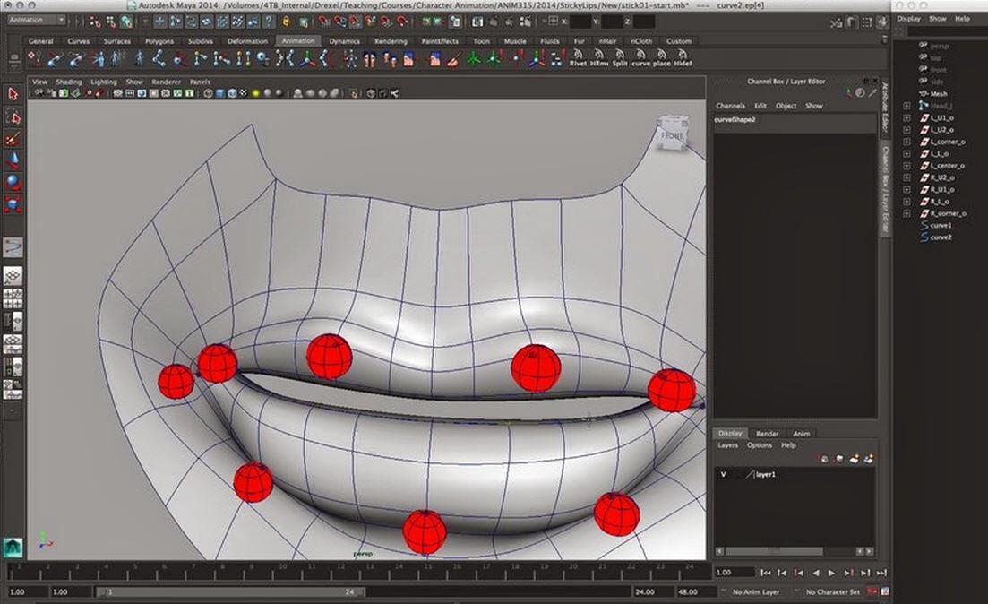 How to rig lips in Maya | CG TUTORIAL