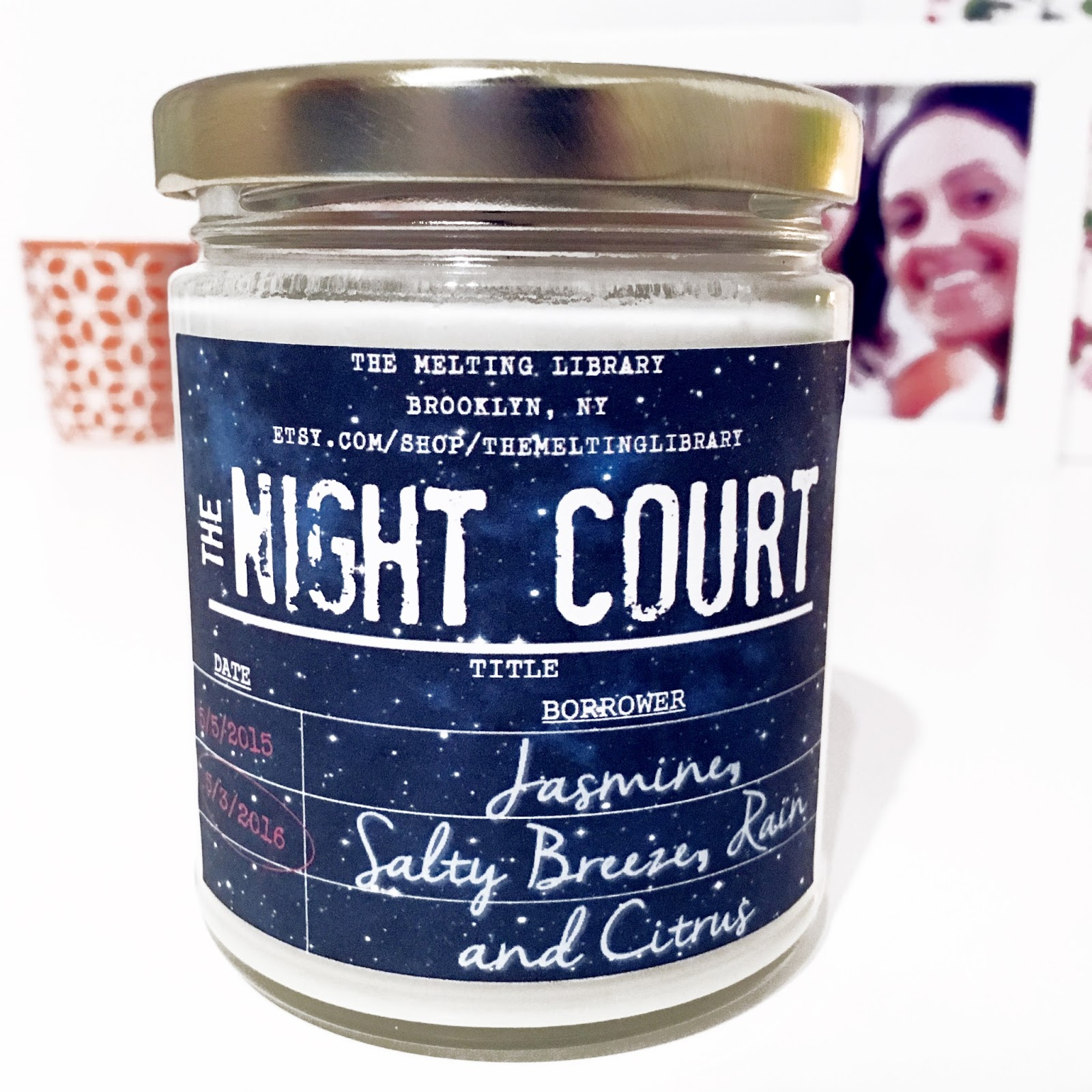 Night Court candle