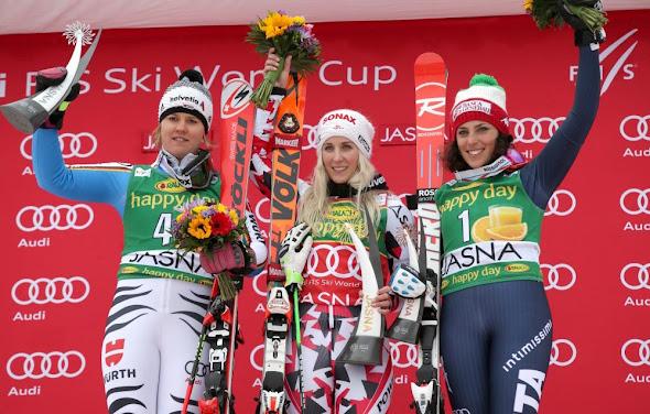 Obrovský slalom Jasná - 1.Bremová, 2.Rebensburgová, 3.Brignoneová