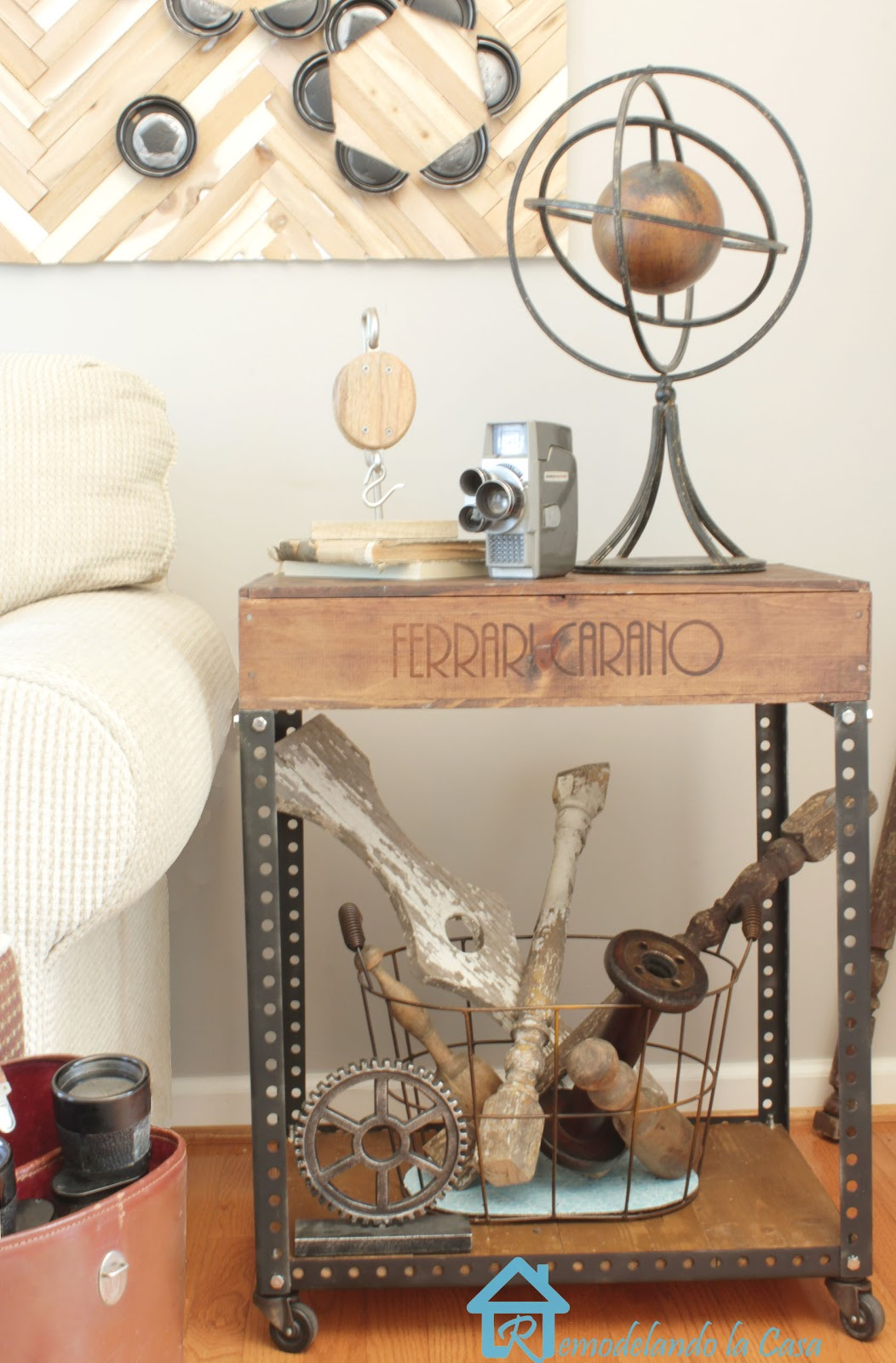 complete instructions on how to build an industrial side table