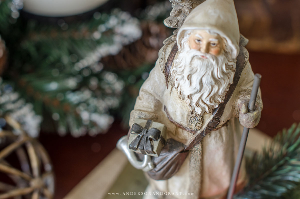 Christmas Decorating Tips And Inspiration Featuring A Rustic Mantel Decorated Tree