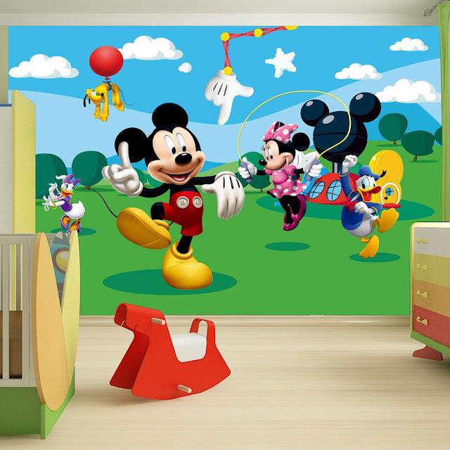 Disney tapetti Mikki Hiiri valokuvatapetti lapsia lastenhuone tapetti