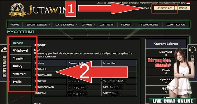 Cara Deposit Di Situs Jutawin