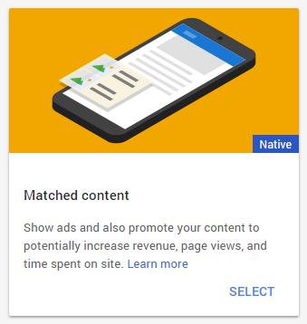 Cara mudah meletakkan iklan Matched Content di Blog