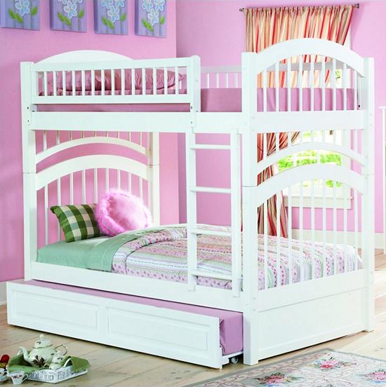 10 Model Tempat Tidur Minimalis Untuk Anak Perempuan Bertema Pink ! - Bertingkat