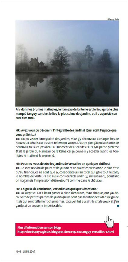 Blog krebs paysagistes tanguy versailles interview for Paysagiste versailles