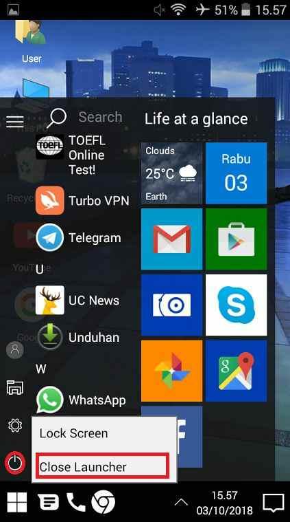 Cara mengubah tampilan Android seperti Windows 10 tanpa root 3