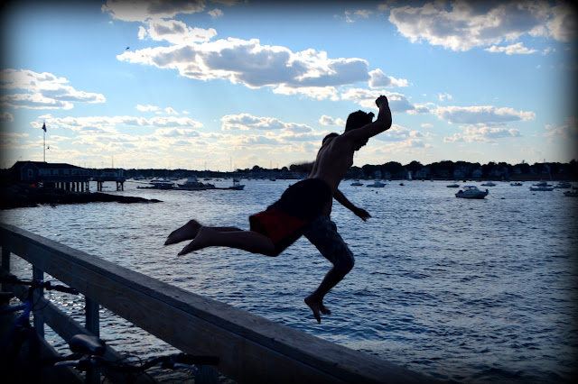 Jumping, Pier, Salem Willows, Salem, Massachusetts
