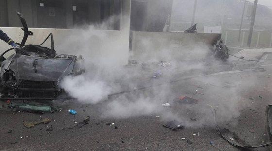 Σοκ και δέος από το βίντεο στο τραγικό δυστύχημα στην Αθηνών Λαμίας.
