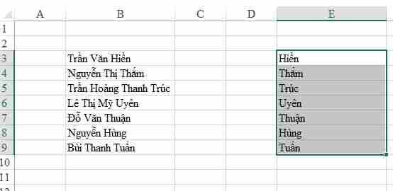 Thủ thuật tách gộp họ tên trong Excel dân văn phòng nên biết 2