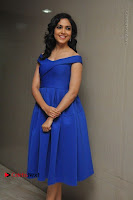 Actress Ritu Varma Pos in Blue Short Dress at Keshava Telugu Movie Audio Launch .COM 0075.jpg