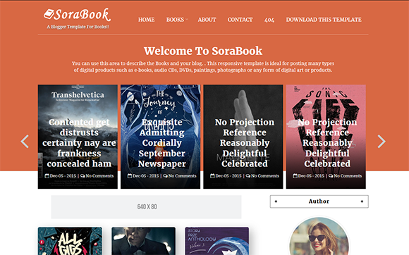 online book store blogger template