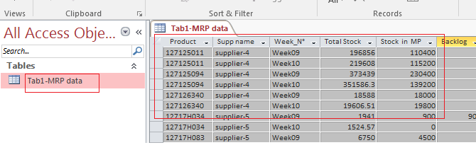 Create tables on access by get external data from Excel Spreadsheet I
