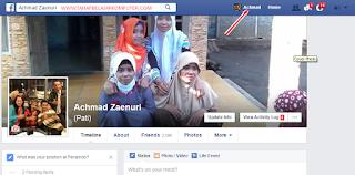 gambar petunjuk profile facebook sendiri
