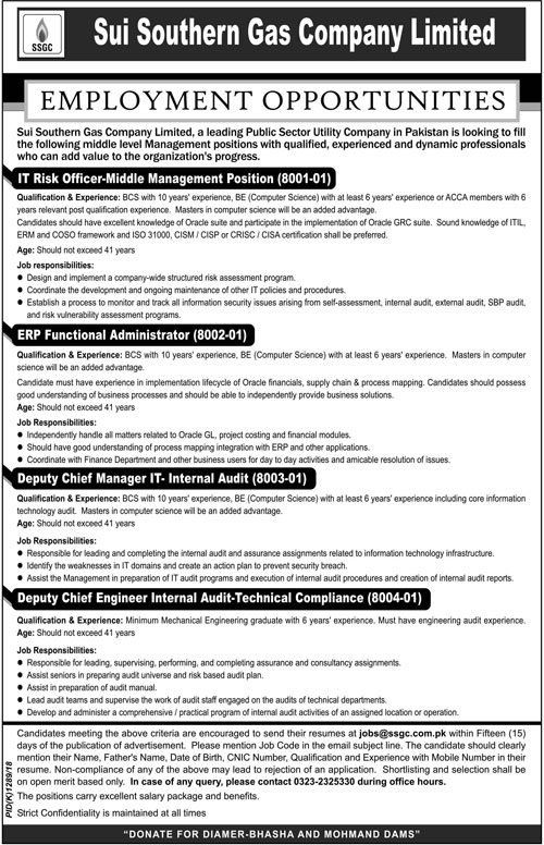 Karachi Latest Jobs 2019