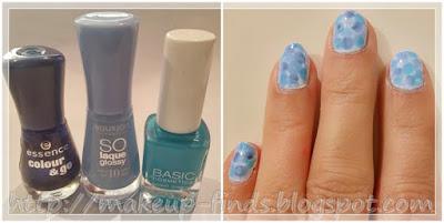 Manicura Aguada: Popurrí de Azules:)