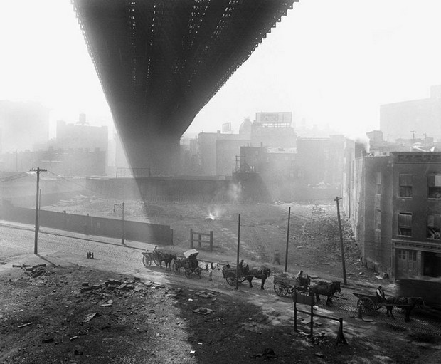 Beneath the Brooklyn Bridge
