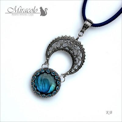 labradoryt, wisiorek, labradorite pendant, miracolo