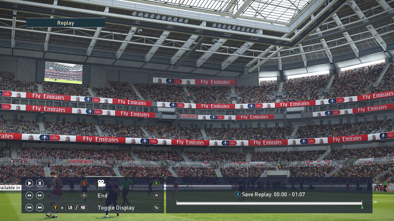 PES 2019 EMIRATES FA CUP BOARDS by BUZZY