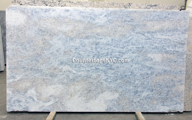 Calcite Azul Polished Marble Slab NYC 2cm
