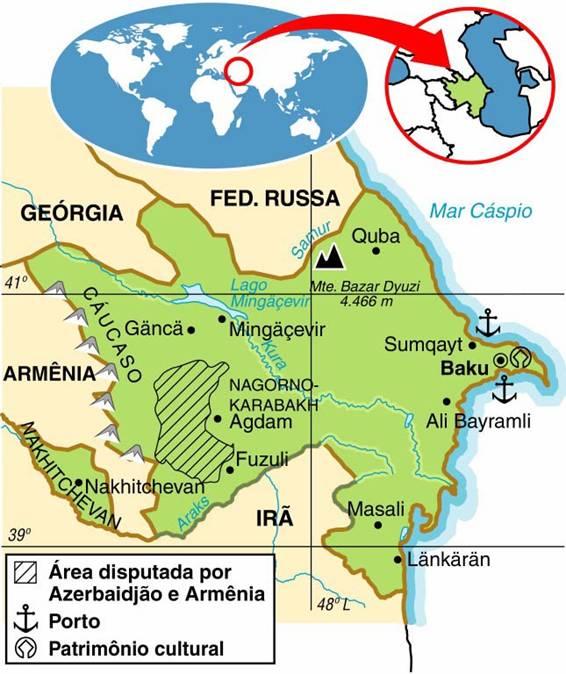 AZERBAIJÃO, ASPECTOS GEOGRÁFICOS E SOCIOECONÔMICOS DO AZERBAIJÃO