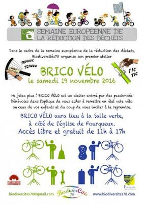Affiche semaine réduction des déchets - Brico-vélo - Fourqueux