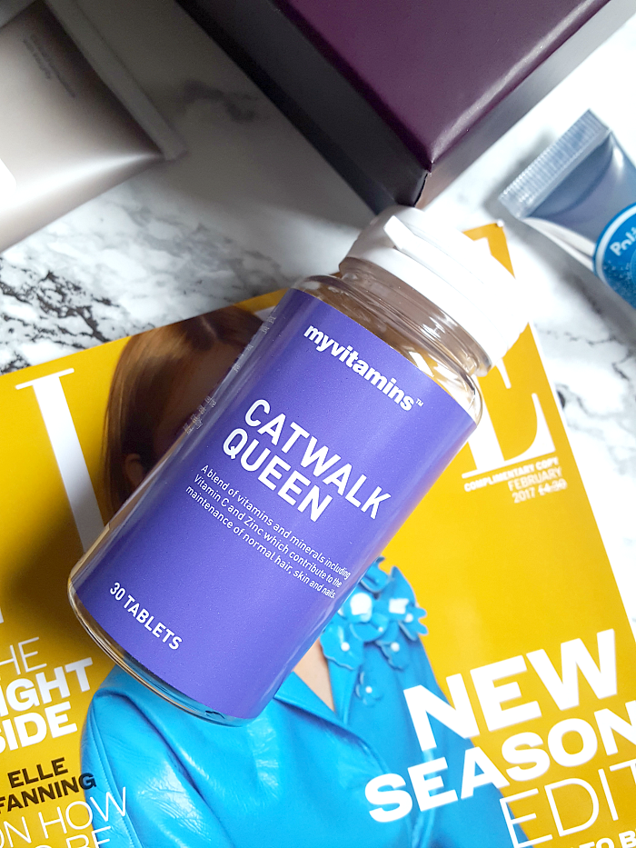 Unboxing: lookfantastic Beauty Box Februar - myvitamins - Catwalk Queen Multivitamine - 30 Tabletten