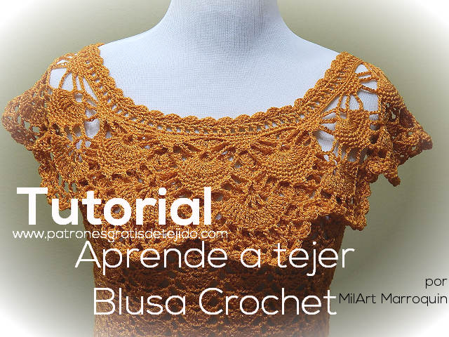 blusa crochet con tutorial en video paso a paso