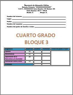 Exámenes Cuarto grado Ciclo Escolar 2017-2018