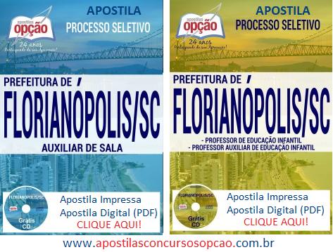 Apostila Prefeitura de Florianópolis Auxiliar de Sala 2017