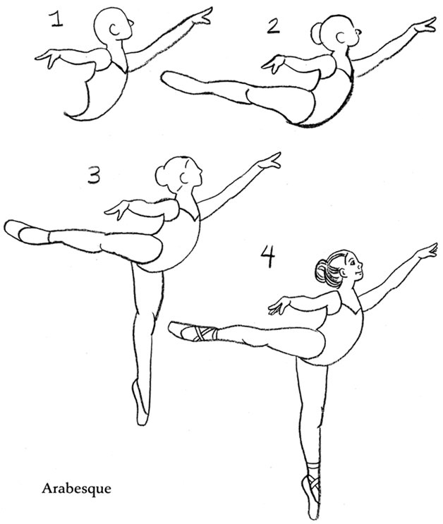 Coloring & Activity Pages: How to Draw a Ballerina in