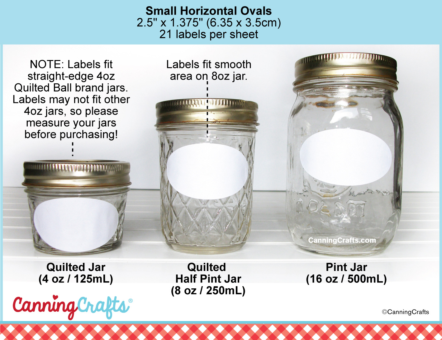 ball 8 oz mason jars. canning jar label size chart | canningcrafts.com ball 8 oz mason jars