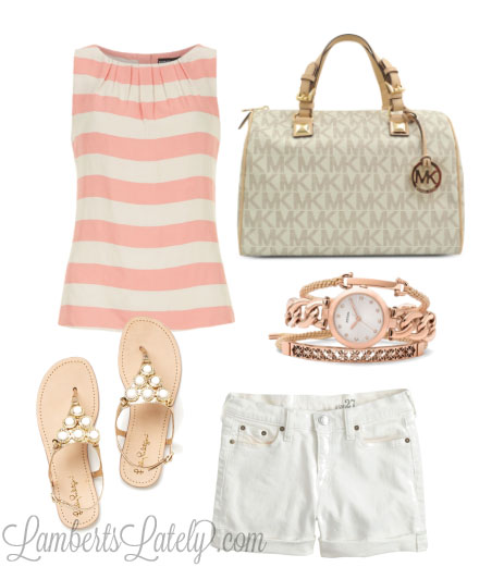 Peach Stripes, with Michael Kors and Lilly Pulitzer