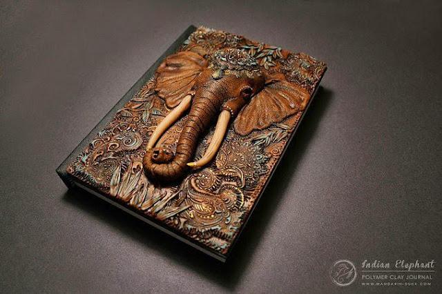 Cubierta de libro con elefante