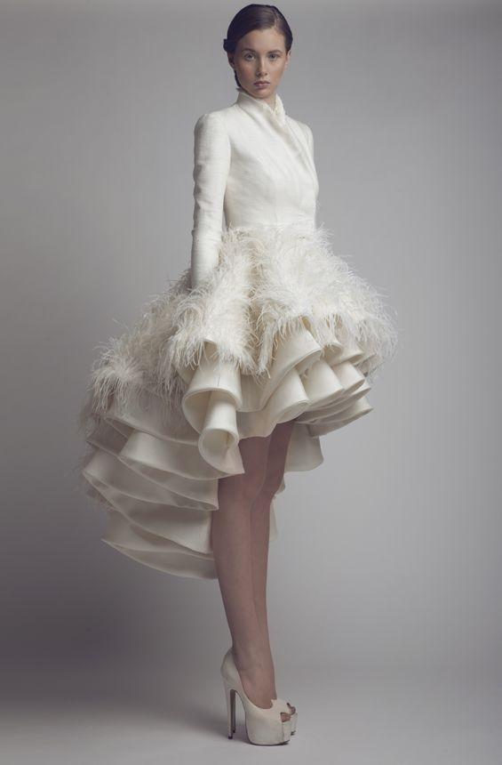 Wedding Dress Hemline : Bold unique high low bridal gown runway ideas of