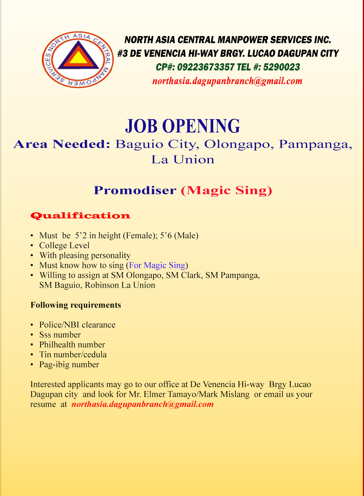 job hiring baguio for robinson sm baguio and handyman april 2017