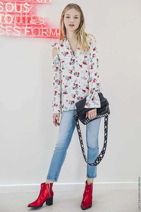 Moda jeans otoño invierno 2018 ropa de mujer Kosiuko,