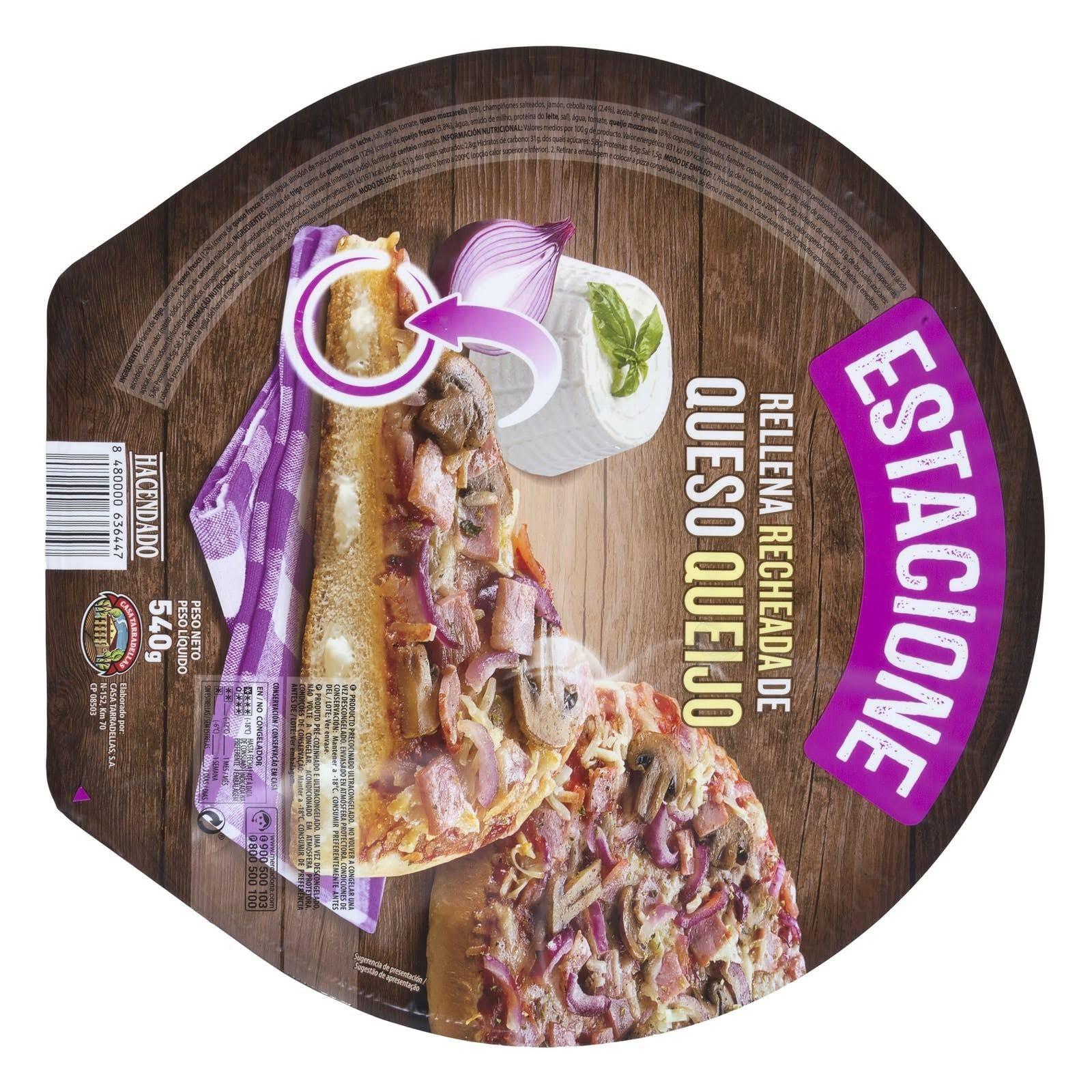Pizza estacione rellena de queso Hacendado