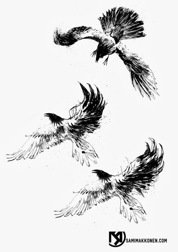 S/M COMA X: A Crow Tattoo design