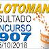 Resultado da Lotomania concurso 1907 (05/10/2018) ACUMULOU!!!