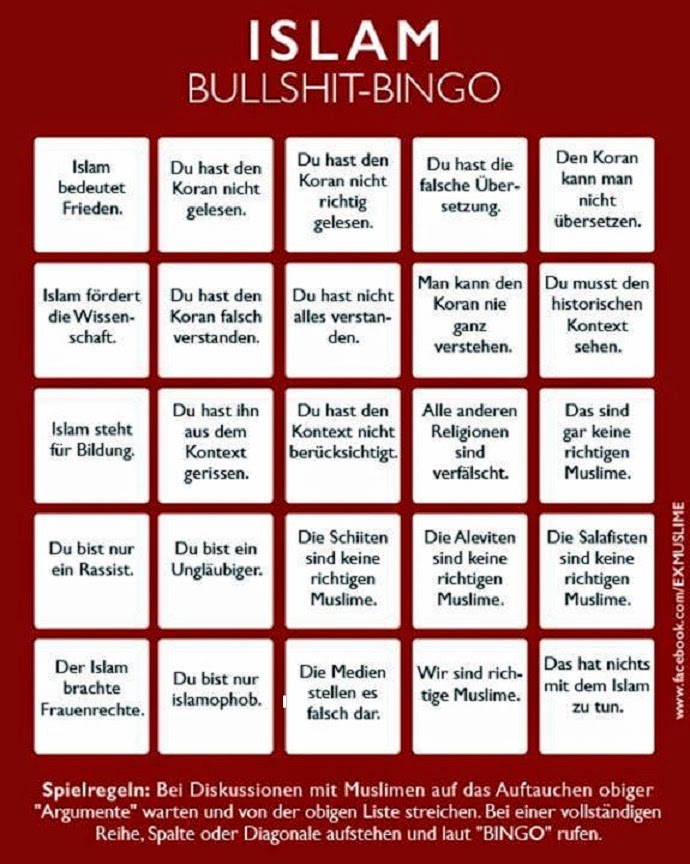 schluss machen bingo